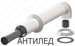 комплект коаксиального дымохода 60x100-750 с фланцем и втулкой