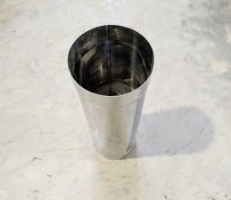 Одностенная труба 400 мм из нержавеющей стали