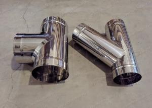 Тройник 400 мм одностенный для дымохода