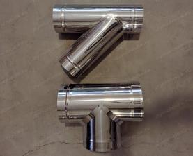 Тройник одностенный 400 мм