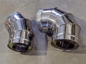 Производим сэндвич отводы 450x530 мм из нержавеющей стали