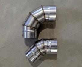 Производим отводы диаметром 450 мм из нержавеющей стали толщиной 0,8 мм для дымоходов