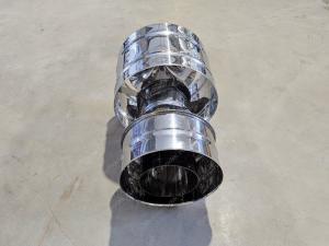 Производим ветровые дефлекторы диаметром 400x480 мм для дымоходов из нержавеющей стали