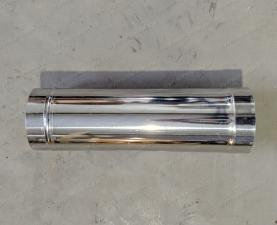 Купить одностенную трубу 500 мм для дымохода из нержавеющей стали