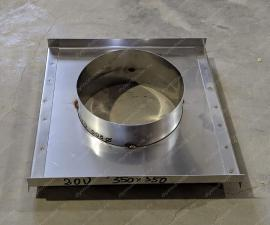 Монтажная площадка для дымохода 550x630 мм