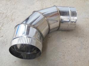 Производство отводов 80 мм и комплектующих для дымоходов