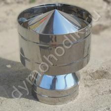 Ветровой дефлектор 80x150 мм для устройства двухконтурного дымохода