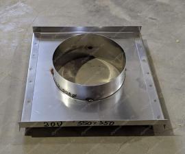 Монтажная площадка для дымохода 80x150 мм