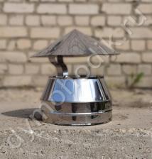 Оголовок 80x150 мм из нержавеющей стали для дымохода