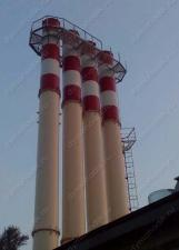 Выполненные объекты: Самонесущая дымовая труба D=1000 мм, обечайка D=1420мм, 4шт, высота Н=28 м