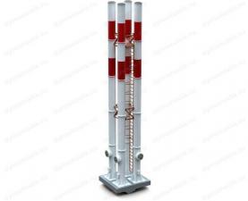 Дымовая труба 25 м четырехствольная самонесущая, купите по цене производителя