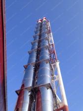 Реализованный объект смонтированная ферма дымовой трубы D=1000х1100мм, 4шт, Н=32 м