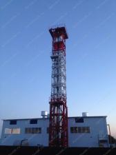 Реализованный объект смонтированная четырехгранная ферма дымовой трубы D=1000х1100мм Н=30 м
