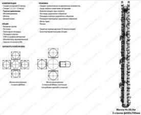 Комплектация опции упаковка и варианты компоновки несущей многогранной мачты 30 м