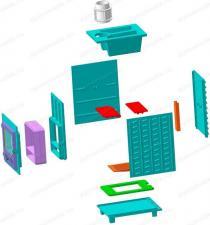 Чугунная Банная Печь Гефест ПБ-03 (М, М, МС, П, ПС) сборка в 3-D