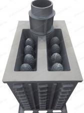 Печь Гефест ПБ-03 (М, М, МС, П, ПС) из чугуна вид сзади