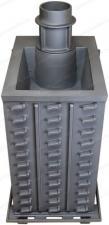 Печь Гефест ПБ-03 ЗК  (М, М, МС, П, ПС) с закрытой каменкой из чугуна вид сзади