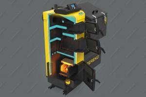 Купите котел Pereko KSP Duo 50 кВт на пеллетах и угле, фракцией 5-31 мм, с КПД до 92%, в наличии