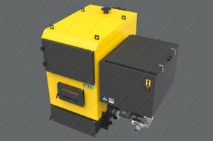 Котел-автомат Pereko  KSR Pro 150 кВт работает на угле фракцией 5-31 мм. Бункер на 900 литров