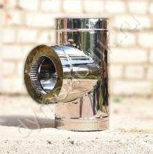 Сэндвич тройник 150x230 мм 90 гр для вентиляции из нержавеющей стали