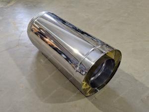 Сэндвич труба 150x230 мм для вентиляции из нержавеющей стали