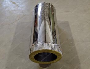 Утепленная труба 200x280 мм для вытяжки из оцинкованной стали