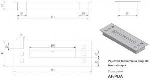 Фото чертежа и размера прямоугольного контейнера Grand, АРОМА
