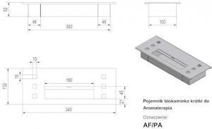 Фото чертежа и размера прямоугольного контейнера Petit, АРОМА