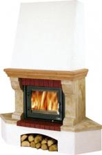 Печь-камин ABX Glasgow Klasik угловой