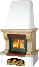 Печь-камин ABX Glasgow Klasik белый цоколь