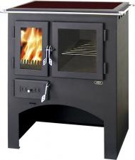 Печь-камин ABX Кухонная плита с духовкой (стеклокерамика)