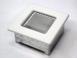Вентиляционная решетка Kratki 11x11 Белая