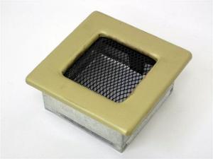 Вентиляционная решетка Kratki 11x11 Гальваника под золото
