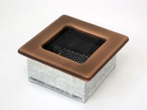 Вентиляционная решетка Kratki 11x11 Гальваника под медь
