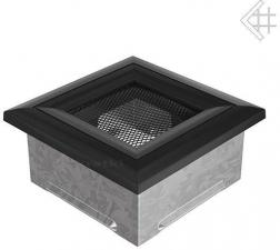 Вентиляционная решетка Kratki 11x11 Оскар черная