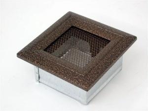 Вентиляционная решетка Kratki 11x11 Оскар черная/медь