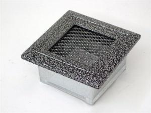 Вентиляционная решетка Kratki 11x11 Оскар черная/хром