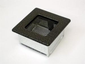 Вентиляционная решетка Kratki 11x11 Черная/латунь пористая