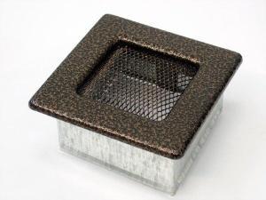 Вентиляционная решетка Kratki 11x11 Черная/медь пористая