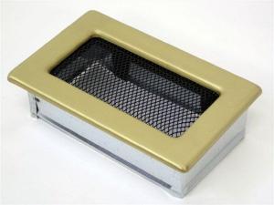 Вентиляционная решетка Kratki 11x17 Гальваника под золото