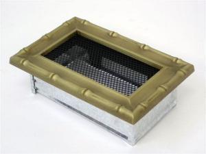 Вентиляционная решетка Kratki 11x17 Диана латунь