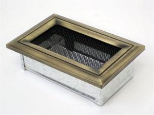 Вентиляционная решетка Kratki 11x17 Оскар латунь