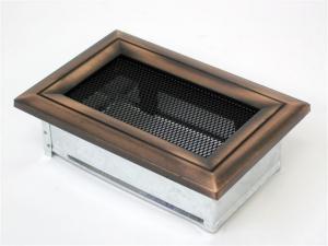 Вентиляционная решетка Kratki 11x17 Оскар медь
