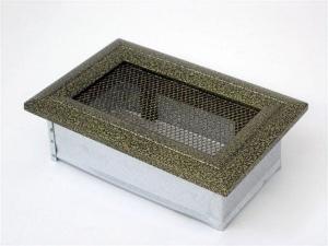Вентиляционная решетка Kratki 11x17 Оскар черная/латунь