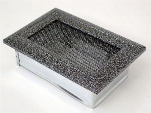 Вентиляционная решетка Kratki 11x17 Оскар черная/хром