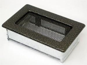 Вентиляционная решетка Kratki 11x17 Черная/латунь пористая
