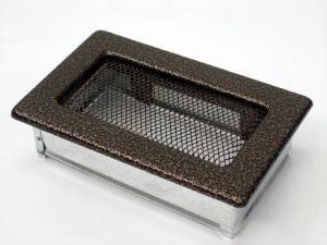 Вентиляционная решетка Kratki 11x17 Черная/медь пористая