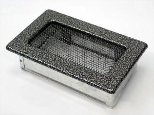Вентиляционная решетка Kratki 11x17 Черная/хром пористая