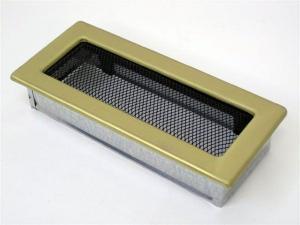 Вентиляционная решетка Kratki 11x24 Гальваника под золото