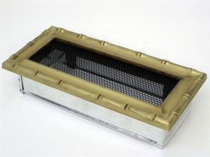 Вентиляционная решетка Kratki 11x24 Диана латунь